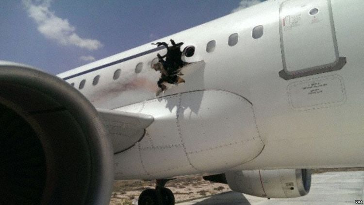 Engine explosion rips fuselage open