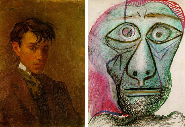 Picasso Self Portrait at Age