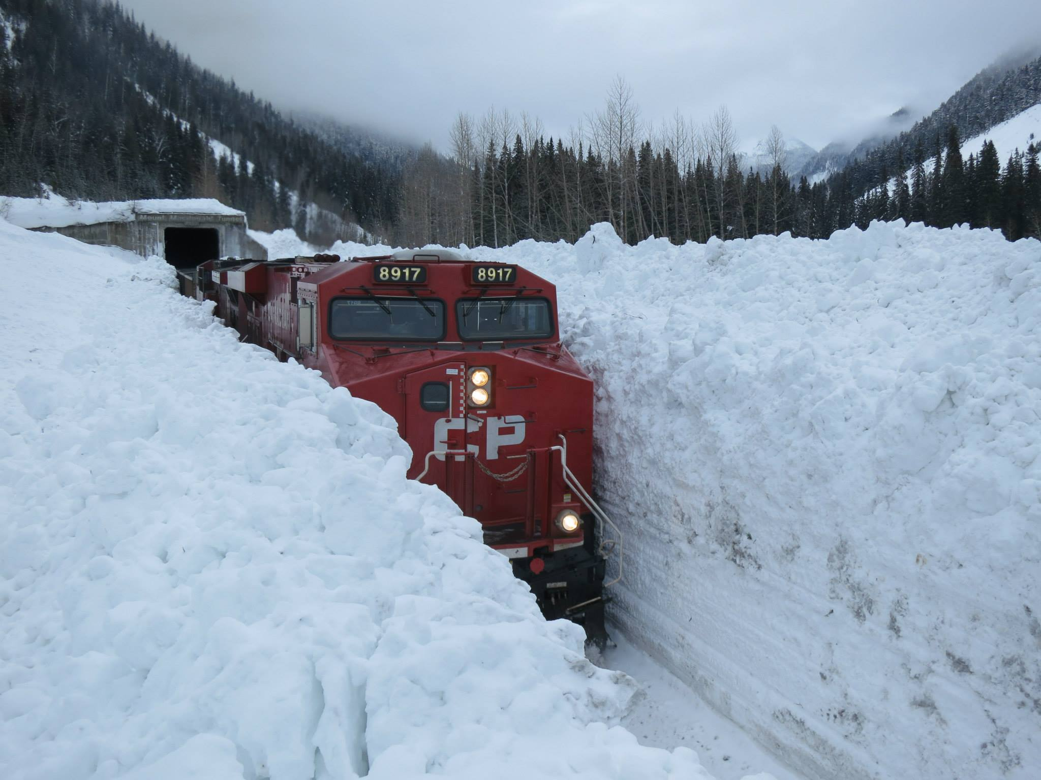 Winter Train in Canada