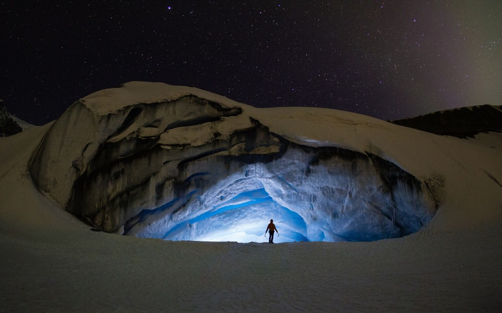 Ice Cave Spelunking