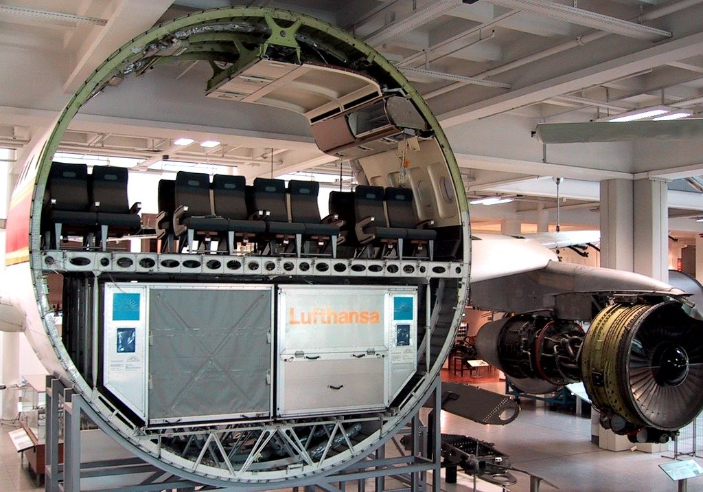 Cross Section of Commercial Airplane