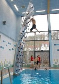 Climbing wall without a harness