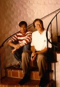 Two Geeks Sitting on the Stairs