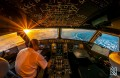 Airbus Cockpit at Sunset